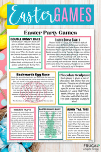 Easter Games List PDF