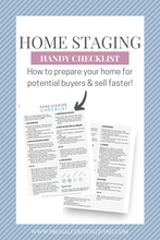 Load image into Gallery viewer, Home Staging Checklist