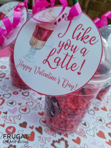I Like You a Latte Teacher Gift Tag