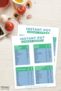 Kitchen Cheat Sheets Set - Instant Pot, Air Fryer and Baking Conversions