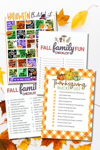 Fall Family Bucket List Bundle
