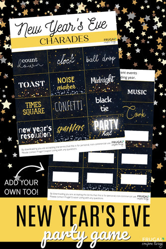 New Year's Eve Charades Party Game