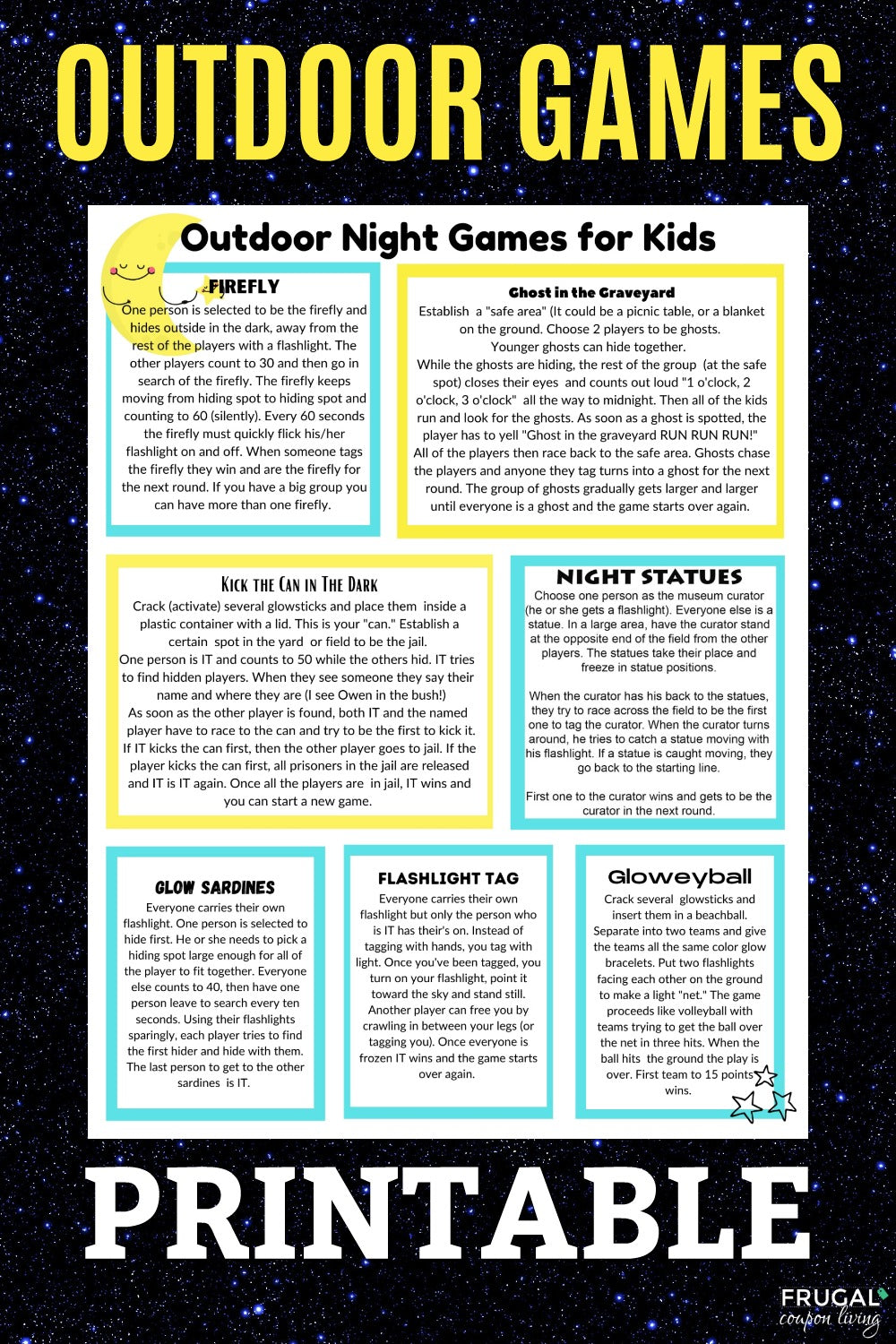Outdoor Night Games List PDF