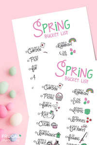 Spring Family Bucket List Bundle
