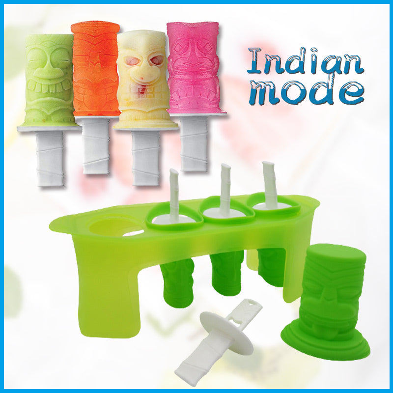 Ice Pop Molds - Set of 4 Popsicle Makers with Sticks