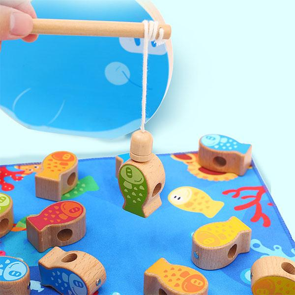 Wooden Fishing Stacker Game
