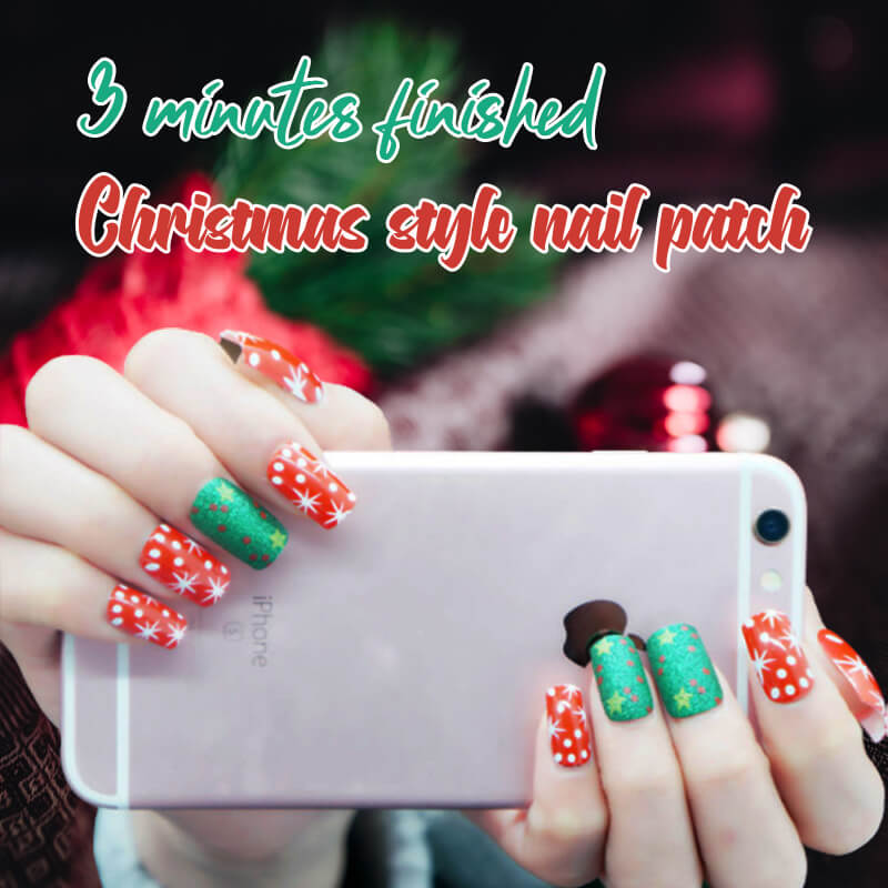 3 Minutes Finished Christmas Style Nail Patch