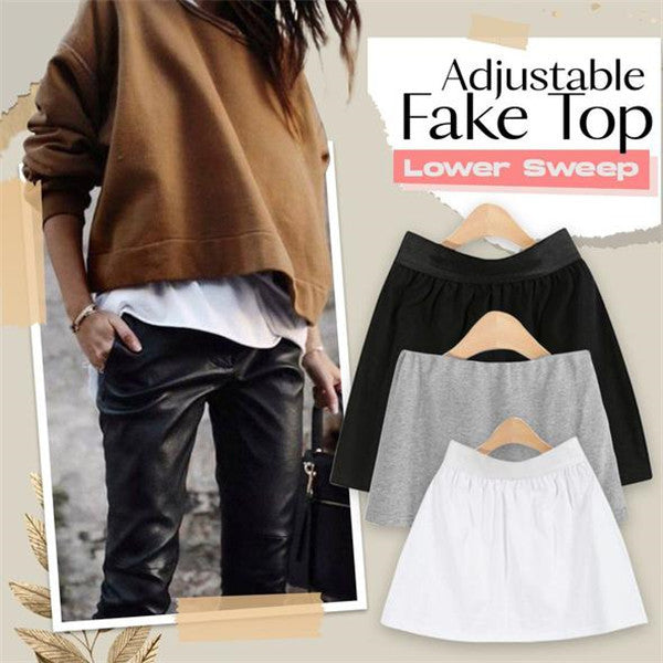 👗Fashion Hack👗 Adjustable Layering Fake Top Lower Sweep