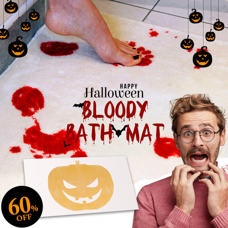 Halloween Flash Sale-Bloody Bath Mat(60% OFF)
