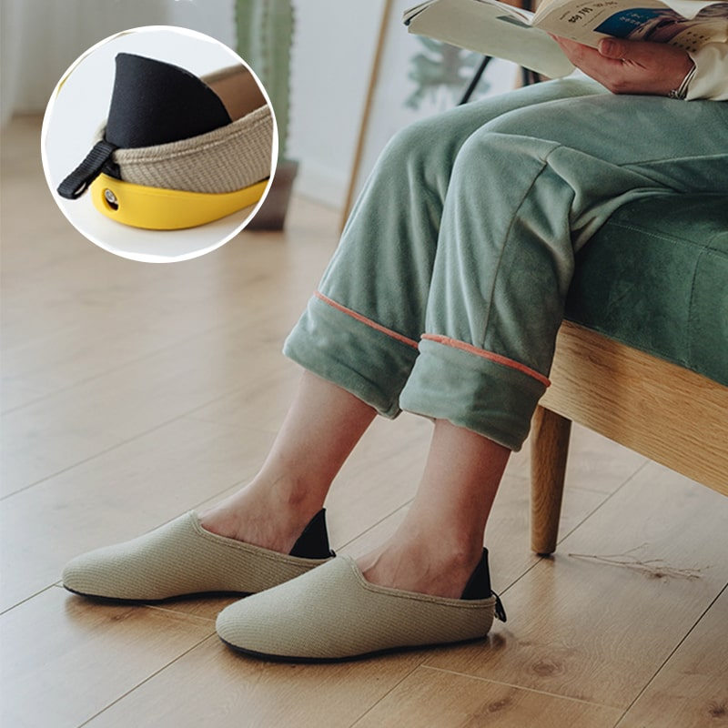 Lazy home slippers with Removable Sole