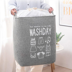 Large capacity foldable storage basket
