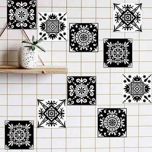 3D Visual Art Geometric Tile Decals(A set of 10 pieces)