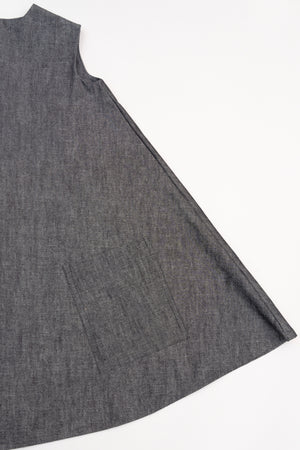 The Classic - in gray crosshatch denim