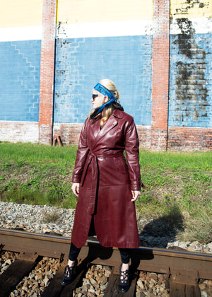 Vintage 1970s Etienne Aigner Leather Trench