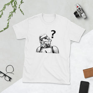 Curious Stormy the Storm Trooper - dropthetee