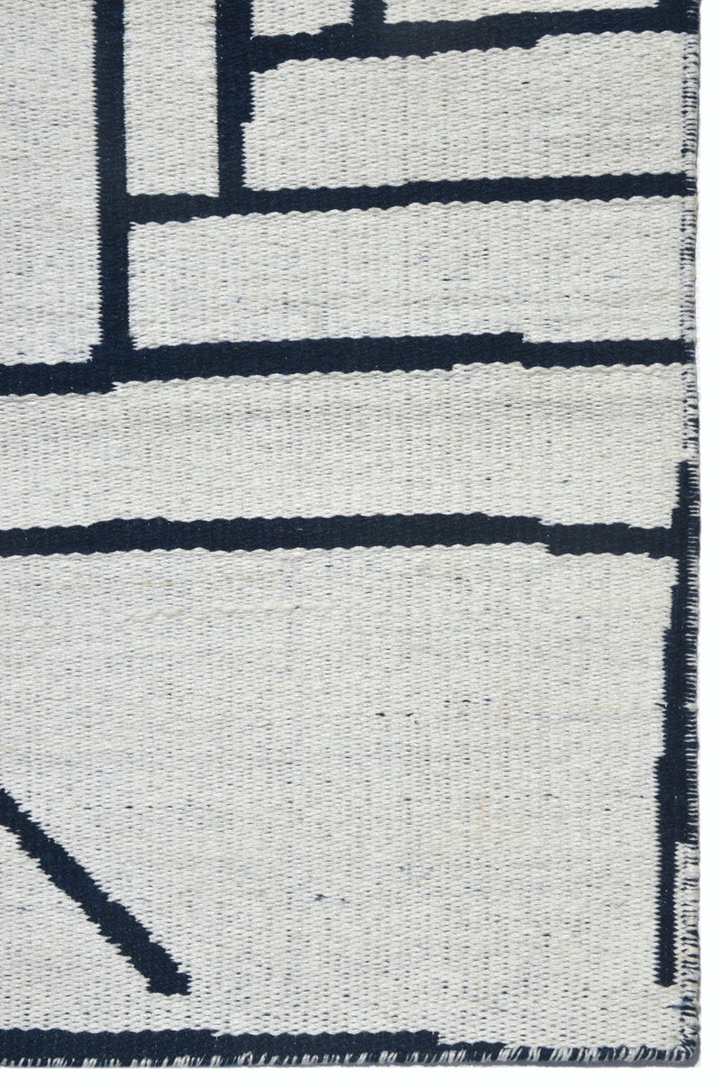 Casual navy rug