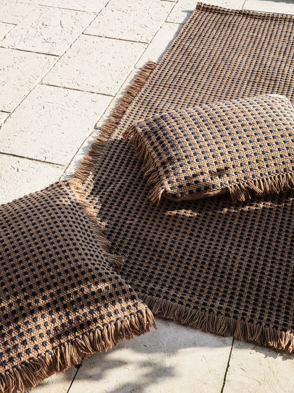 Dots outdoor rug - Brown