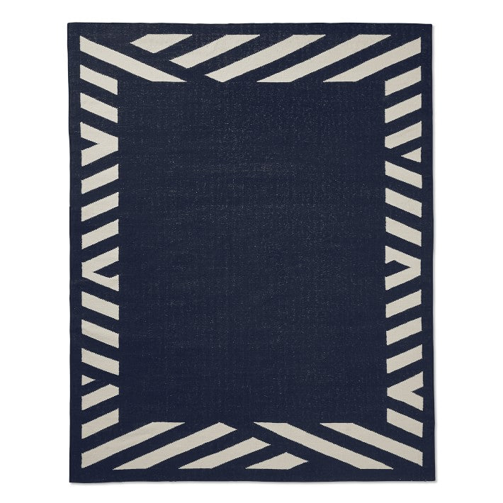 Striped border rug