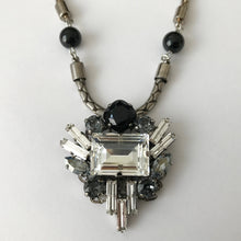 Load image into Gallery viewer, Jet Crystal Pendant Necklace - Heiter Jewellery