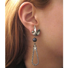 Load image into Gallery viewer, Blue Pearl Moon Earrings - Heiter Jewellery