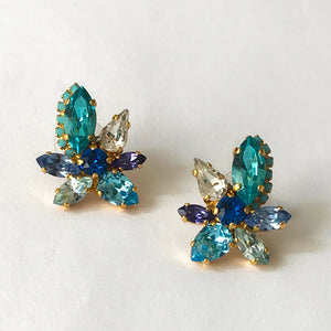 Blue Orchid Earrings - Heiter Jewellery