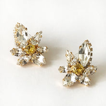 Load image into Gallery viewer, Crystal and Topaz Orchid Earrings - Heiter Jewellery