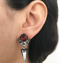 Load image into Gallery viewer, Silver Night Drop Earrings - Heiter Jewellery