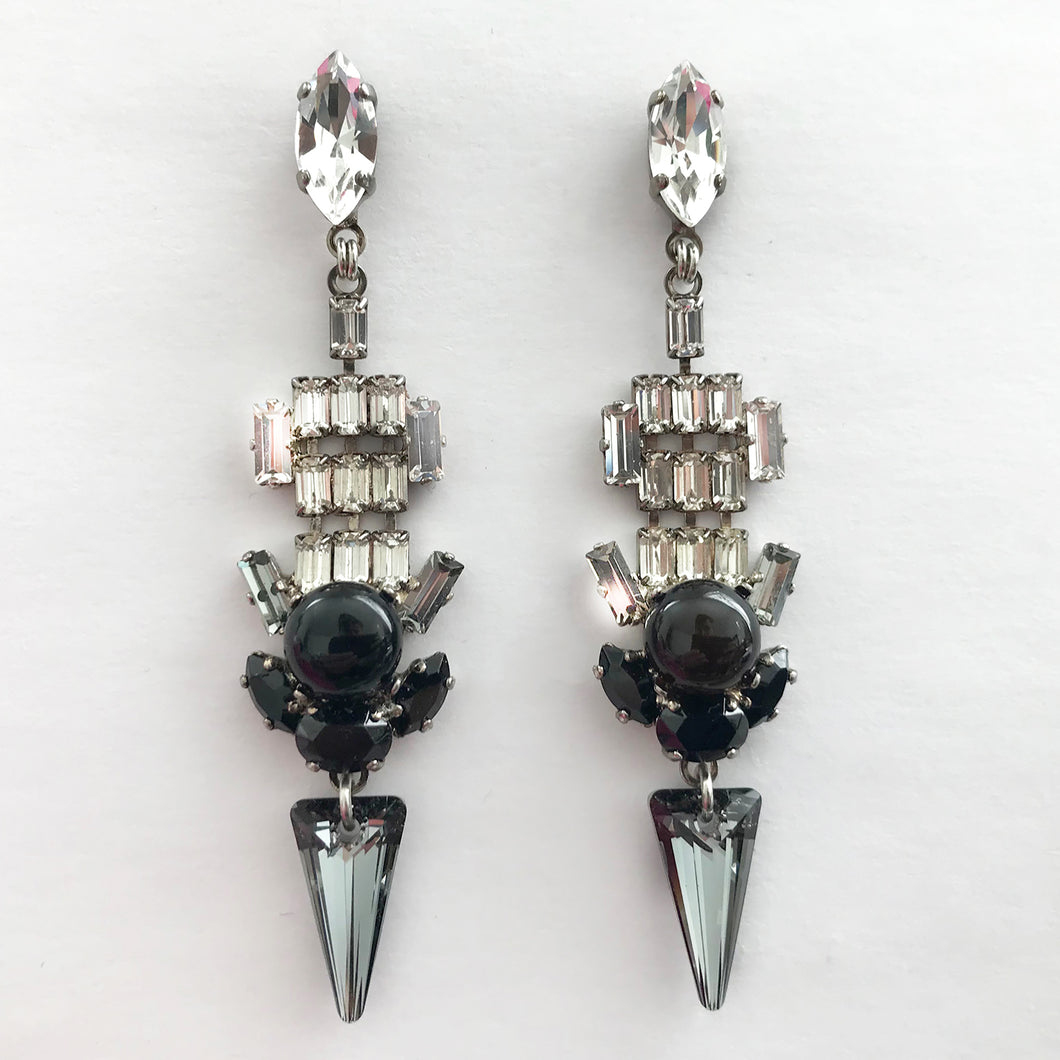 Chrysler Crystal Earrings - Heiter Jewellery