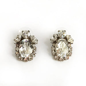 Mina Crystal Stud Earrings - Heiter Jewellery
