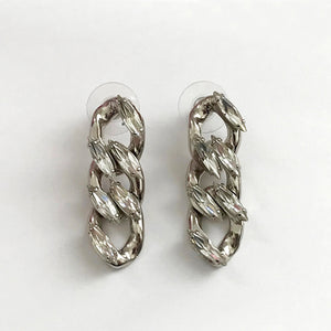 Crystal Chain Earrings - Heiter Jewellery