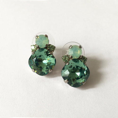 Swarovski Erenite stud earrings - Heiter Jewellery