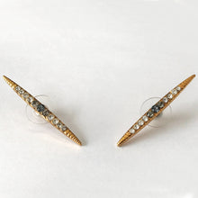Load image into Gallery viewer, Gold Crystal Stud Earrings - Heiter Jewellery