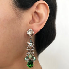 Load image into Gallery viewer, Green Drop Crystal Earrings - Heiter Jewellery