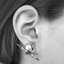 Load image into Gallery viewer, Chrysler Pearl Earrings - Heiter Jewellery