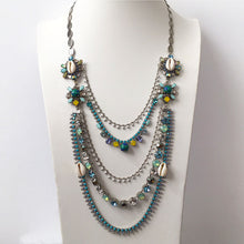 Load image into Gallery viewer, Flores Multistrand Turquoise Necklace - Heiter Jewellery