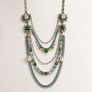Flores Multistrand Turquoise Necklace - Heiter Jewellery