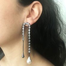 Load image into Gallery viewer, Juno Baroque Pearl and Metal Drop Earring - Heiter Jewellery