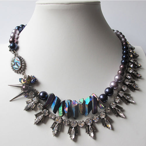 Moon Iridescent Necklace - Heiter Jewellery