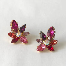 Load image into Gallery viewer, Red Orchid Earrings - Heiter Jewellery