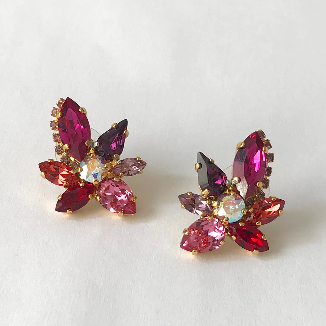 Red Orchid Earrings - Heiter Jewellery