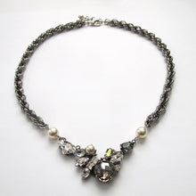 Carica l'immagine nel visualizzatore di Gallery, Black Diamond and Crystal Necklace - Heiter Jewellery