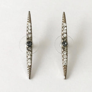 Silver Crystal Stud Earrings - Heiter Jewellery