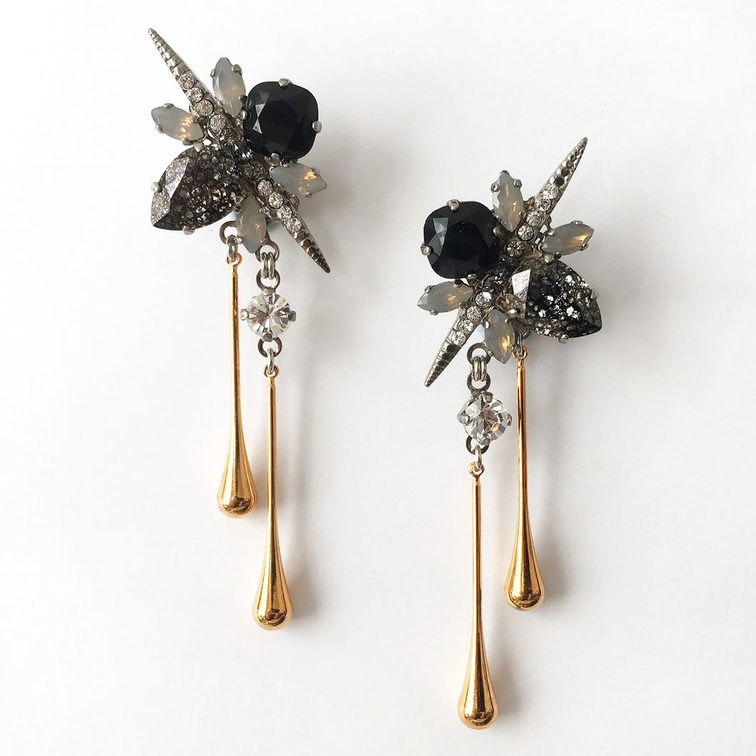 Virginia Gold Drop Earrings - Heiter Jewellery