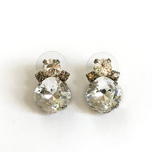 Large Crystal Stud Earrings - Heiter Jewellery