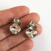 Load image into Gallery viewer, Large Crystal Stud Earrings - Heiter Jewellery