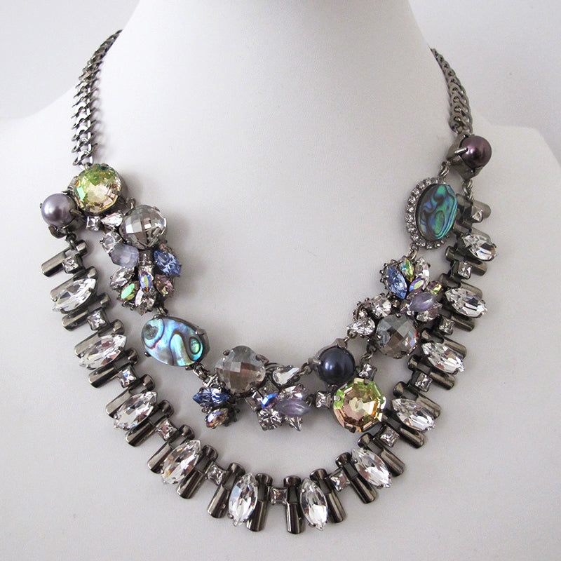 Abalone shell Moon Necklace - Heiter Jewellery