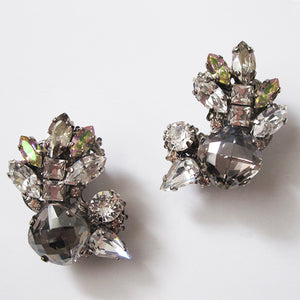 Black Diamond Crystal Earrings - Heiter Jewellery