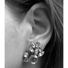 Load image into Gallery viewer, Black Diamond Crystal Earrings - Heiter Jewellery