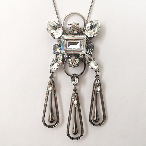 Audrey Crystal Pendant Necklace - Heiter Jewellery
