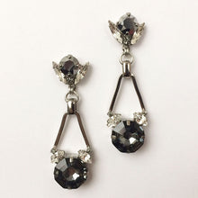 Load image into Gallery viewer, Silver Night Chrysler Earrings - Heiter Jewellery